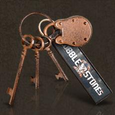 Schlüsselbund mit Schloss