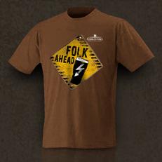 T-Shirt Men braun Schild